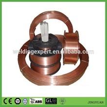 De cobre recubierto de alambre de soldadura para e70s-6