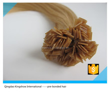 top grade raw unprocessed remy peruvian hair flat tip hair