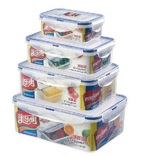Microwavable air seal clear food container