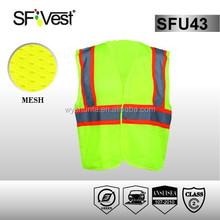 ANSI/ISEA107 Standard For road worker security reflective safety hi vis vest pockets