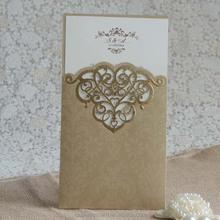 2015 latest design wedding favor decorative invitation card