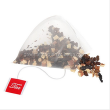 Triangle shape chamber tea bag non-woven fabrics material/ Kuding Liquorice Tea Bag Tea Bag