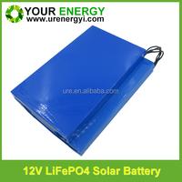 solar power battery/ 12v lifepo4 batteries lithium batteries/18650 solar battery charger