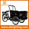 new coffee tricycle three wheel brushless hub motor electric cargo bike for family