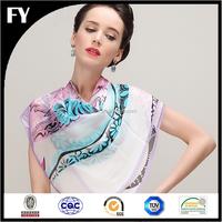 professional factory custom scarf printing silk twill scarf