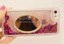 2015 hot sale mirror quicksand cellphone case