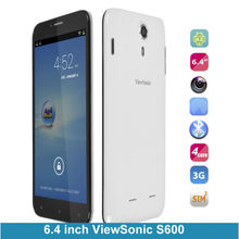 Big Screen Smartphone Cheap 6.4 inch viewSonic S600 MTK6582 Quad Core 1GB RAM 8GB ROM 720pix 3G Android 4.2 smartphone