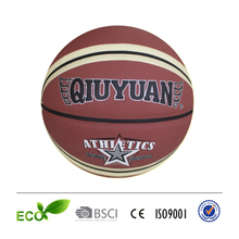 new design 2015 leather basketball for official basketball game synthetic basketball