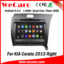 "Wecaro WC-KU8051R 8"" Android 4.4.4 WIFI 3G touch screen car stereo for kia cerato 2013 dvd gps navigation system right drive"