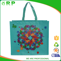 Oem design big stylish multi-functional laminated pp woven beach bag