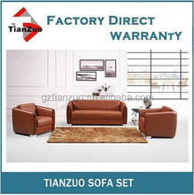 TZ-B84 Top antique wood frame and genuine leather office sofa set