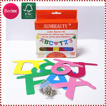 hanging letter banner DIY Paper card Letter Banners Educational toys