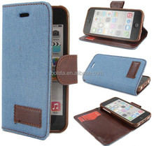 for apple iphone 6 Jeans Wallet Flip Leather Stand Case Cover Skin