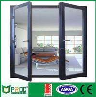 Powder Coated Aluminium Hinges Swing Casement Door| Aluminum casement door and windows with shutters PNOC0035CMD