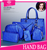 2015 new arrvial china express 3pcs one set cheap leather bags women