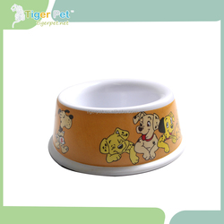Customized ceramic bowl for pet with lovely bone picture inside