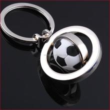 European Style Stereo Rotating Metal Zinc Alloy Golf,Basketball,Football Key Chain