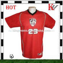 personalizado nombre del equipo de diseño libre a granel de camisetas de fútbol
