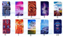 New Flowers Pattern TPU+ PU Wallet Leather Case for Apple iPhone 4 4S 4G