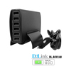 High Speed Portable 6 Port USB 3.0/USB 2.0 Combo Hub with 2A Charging Port Universal charger Socket