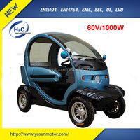 2015 new 1000W motor 2 seats and 2 door best electric vehicles for disabled