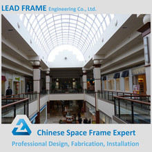 Light steel frame canopy glass dome roof for shopping mall