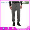 heather grey & black men's gym bodybuilding tracksuit pants skinny slim tapered harem workout gear