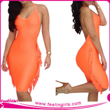 Sexy Fashion beautiful mature women bandage dress