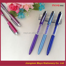 2015 Novelty Souvenir Gift Custom Metal Purple Crystal Ballpoint pen
