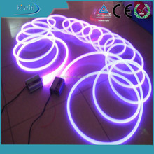 solid core plastic side glow fiber optic light