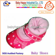 venta al por mayor de moda 2014 cómodo de punto bebé zapatos calcetines