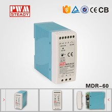 Steady MDR-60W single output industrial DIN Rail dc power supply 15v 4a switching power supply with ce