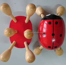Portable ladybird hand held female body wood massage