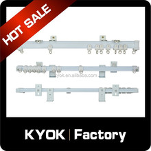 KYOK double curtain rod & curtain rod accessories factory, electric curtain track,ceiling double curtain track