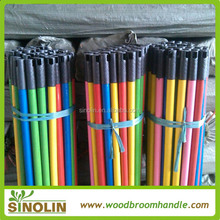 SINOLIN pvc coated wooden broom handle with competitive price