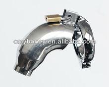 De aceroinoxidable con cerradura chasity dispositivo anillo para el pene cage anillo gallo gallo de la jaula con el anillo&