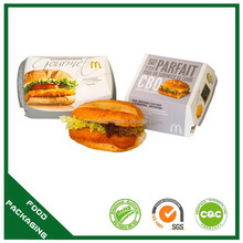 Special new style hamburger box moon cake packaging box