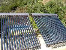 Swimming pool heating project vacuum tube solar collector