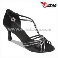 Shiny rhinestone elegance latin dance shoes new arrival salsa dance shoes wholesale