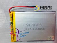 SD 3.7v medical battery 803435 860mAh 3.7v Polymer battery The tablet battery