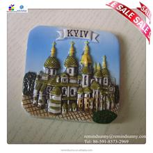2015 Beautiful Ceramic Cities Fridge Magnet Wholesale with Beautiful Building For Souvenir Oem Service