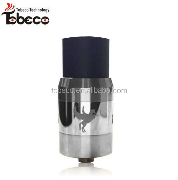 tobeco 2014 new arrival rda atomizer little boy ss dark horse