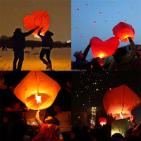 ECO flame resistant chinese heart sky lanterns/air balloons flying sky lantern factory sale