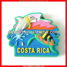 Custom die resin 3d rubber fridge magnet for different countries