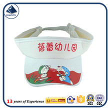 Kindergarten cartoon summer child visor cap with print logo cap manufacturer