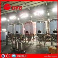 Used large stainless steel conical alcohol fermenters