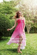 en árabe de la mujer de color rosa vestido de noche largo que fluye de ropa de playa por la noche vestido de fiesta coctel
