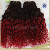 wholesale 100% cheap alli express virgin brazilian colored ombre red color afro hair curly in extensions
