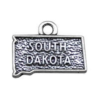 Alibaba Online Shopping Zinc Alloy Antique Silver Plated South Dakota State Map Charms
