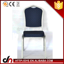 Steel frame aluminum tube banquet chair,aluminum tube chair,banquet chair with gold painting